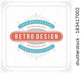 retro typographic design... | Shutterstock .eps vector #183417002