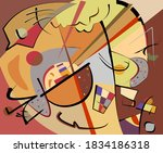 abstract colorful  fancy shapes ... | Shutterstock .eps vector #1834186318