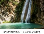 Small photo of Neda river waterfalls Ilia Greece
