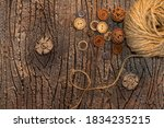 Jute Twine With Buttons On...