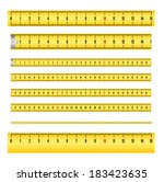measuring tape in mm for tool... | Shutterstock .eps vector #183423635