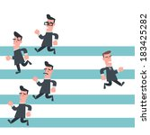 businessman running in... | Shutterstock .eps vector #183425282