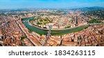 Verona City And Adige River...