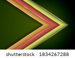 polygonal arrow with gold... | Shutterstock .eps vector #1834267288