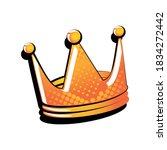 crown in pop art style on white ... | Shutterstock .eps vector #1834272442