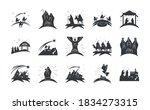 Nativity  Icons Set Manger...
