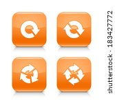 4 arrow orange glossy icon....