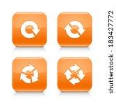 4 arrow orange glossy icon....