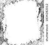 scratched frame. grunge urban... | Shutterstock .eps vector #1834282012