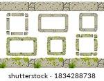 set of seamless old gray rock... | Shutterstock .eps vector #1834288738