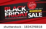 black friday sale banner layout ... | Shutterstock .eps vector #1834298818