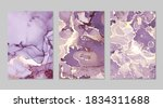 violet and gold marble abstract ... | Shutterstock .eps vector #1834311688