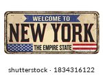 welcome to new york vintage...   Shutterstock .eps vector #1834316122