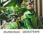 portrait of a beautiful ... | Shutterstock . vector #1834375495