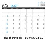 Calendar 2021 Year. May 2021...