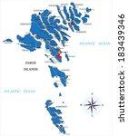 faeroe islands map   Shutterstock .eps vector #183439346