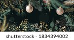 green happy holidays greeting... | Shutterstock .eps vector #1834394002