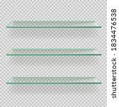 glass empty shelves on... | Shutterstock .eps vector #1834476538