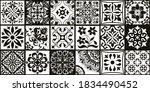 set of 18 tiles azulejos in... | Shutterstock .eps vector #1834490452