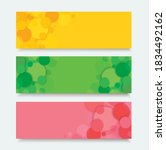 abstract color circle banner... | Shutterstock .eps vector #1834492162