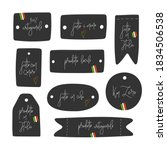 set of tags with hand drawn... | Shutterstock .eps vector #1834506538