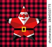 5 Point Star Santa. Paper Cut...