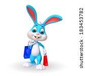 illustration of cute easter... | Shutterstock . vector #183453782