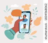 cartoon vector illustration of... | Shutterstock .eps vector #1834568062