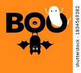 flying ghost spirit. hanging...   Shutterstock .eps vector #1834569382