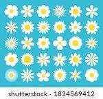 white daisy chamomile icon.... | Shutterstock .eps vector #1834569412