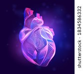 human heart medical structure.... | Shutterstock .eps vector #1834586332