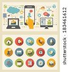flat design template.  | Shutterstock .eps vector #183461612