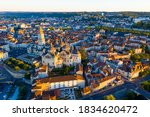 Drone View Of French City Of...