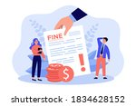 sad tiny people getting... | Shutterstock .eps vector #1834628152