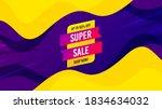 super sale banner. fluid liquid ... | Shutterstock .eps vector #1834634032