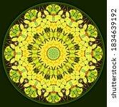 Decorative Autumn Mandala In A...