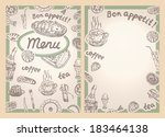 cafe restaurant vector menu in... | Shutterstock .eps vector #183464138