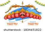 illustration of covid ravana... | Shutterstock .eps vector #1834651822