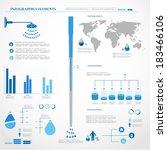water infographics. information ... | Shutterstock .eps vector #183466106