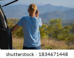 young man resting in nature... | Shutterstock . vector #1834671448