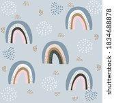 a seamless pattern for babies... | Shutterstock . vector #1834688878