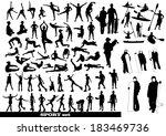 sport silhouettes | Shutterstock .eps vector #183469736