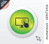 touch screen monitor sign icon. ...