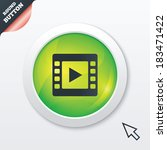 video sign icon. video frame...