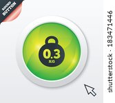 weight sign icon. 0.3 kilogram  ...