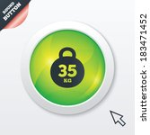 weight sign icon. 35 kilogram ...