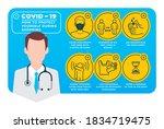 vector infographic coronavirus...   Shutterstock .eps vector #1834719475