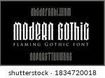 vector modern gothic alphabet.... | Shutterstock .eps vector #1834720018