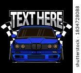 race car vector  vector eps 10 | Shutterstock .eps vector #1834728088
