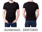 Black T Shirt On A Young Man...